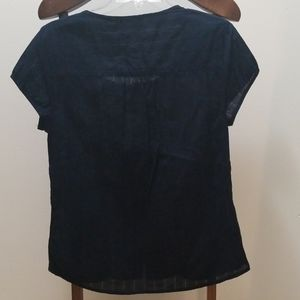 Eddie Bauer Tops - Eddie Bauer dark blue botton up shirt. Sz M